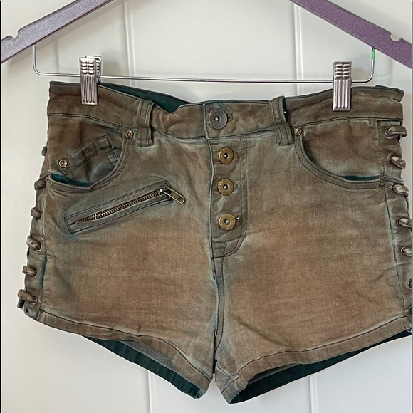Free People Lone Ranger button fly shorts
